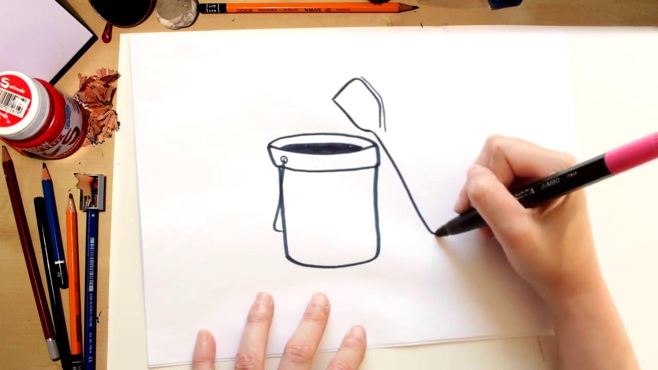 ????????☀Como dibujar un cubo de arena y palas - dibujos de verano