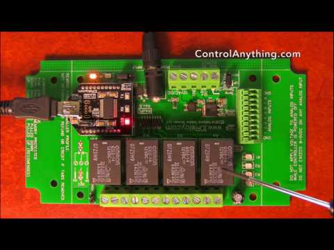 USB 4 Channel Relay Board Hardware Overview