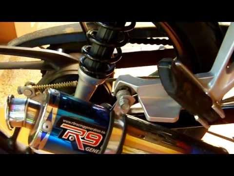 Honda Blade 110R with R9 mugello exhaust