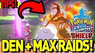 MAX RAID DEN GUIDE! IMPORTANT TIP! Pokemon Sword and Shield