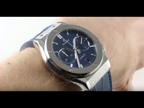 Hublot Classic Fusion Titanium (BLUE DIAL) 521.NX.7170.LR Luxury Watch Review