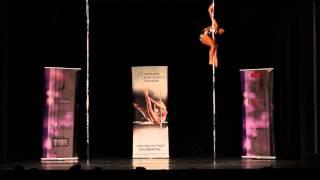 Olga Nesterova - semifinále profesionálů MČR v pole dance 2013