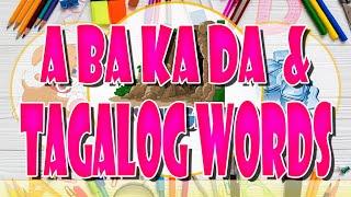 Learning A BA KA DA   TAGALOG WORDS   JMTV