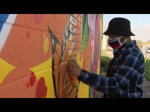 Southwest Detroit artist creates murals to encourage minorities to vote