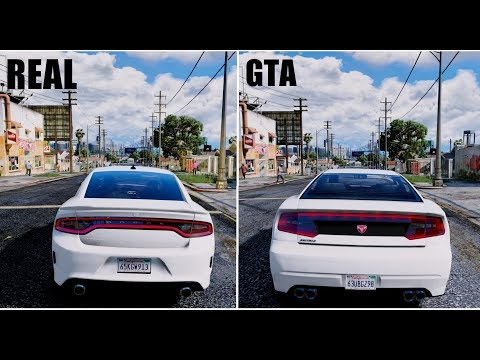 GTA Cars VS REAL LIFE Cars | 2018 GTA 6 ULTRA Realistic GRAPHICS GAMEPLAY GTA V MOD