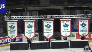 Raising the banners from the 2014-15 season