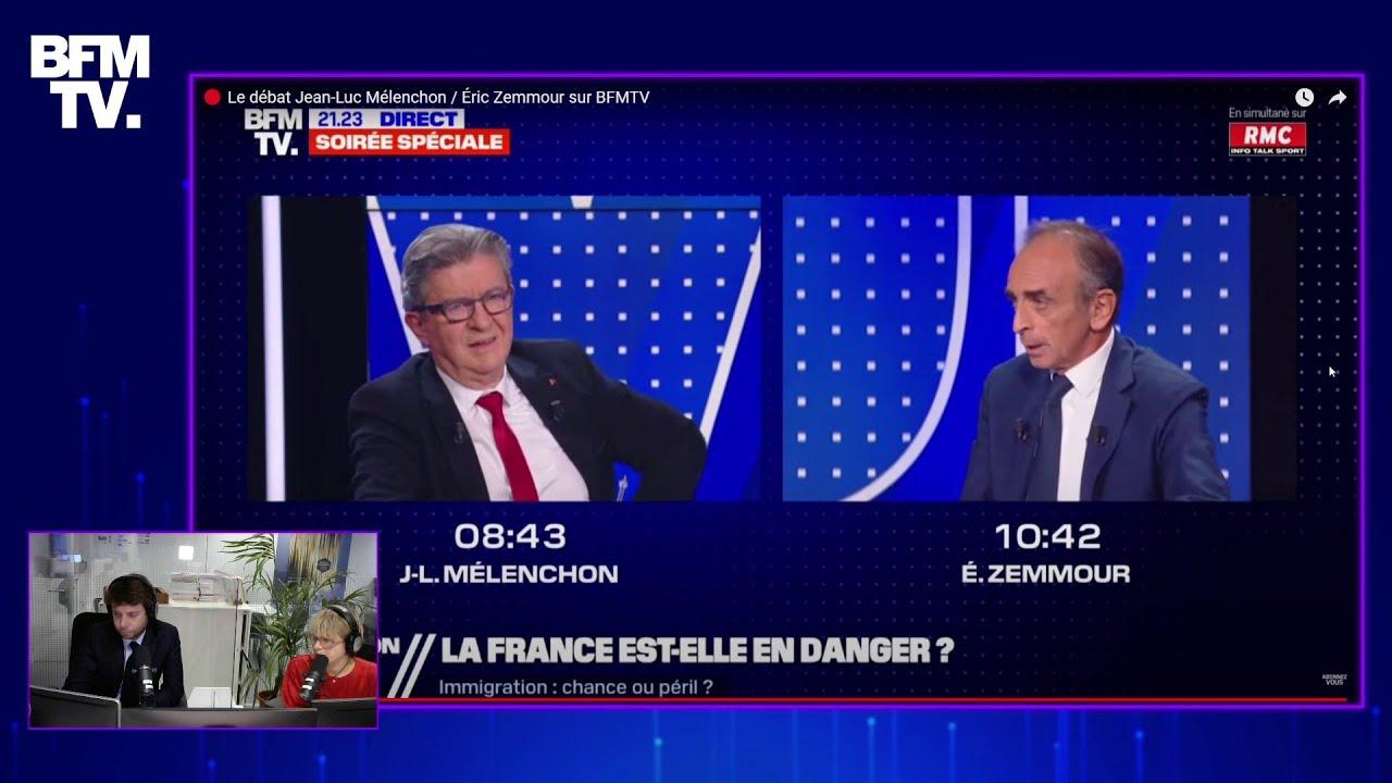 Revivez le débat entre Jean-Luc Mélenchon et Éric Zemmour sur Twitch