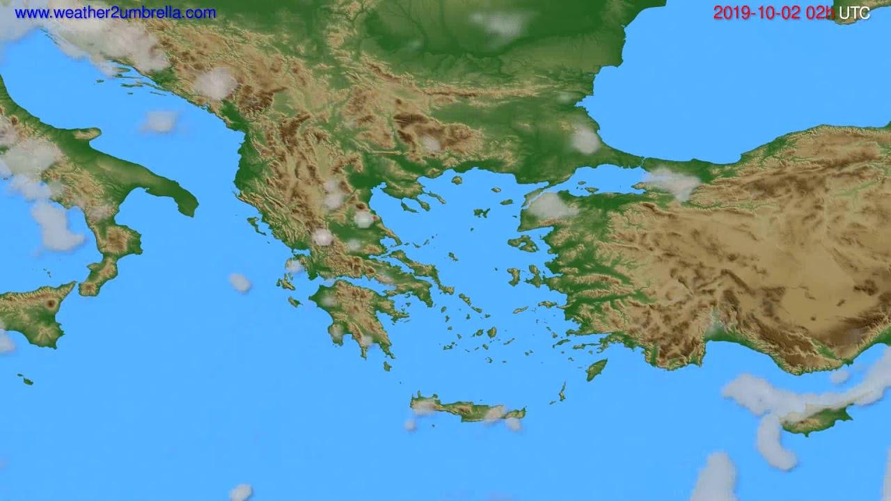 Cloud forecast Greece // modelrun: 00h UTC 2019-09-29