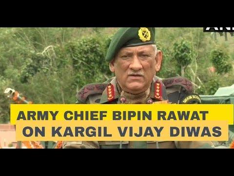 Army Chief Bipin Rawat addresses on Kargil Vijay Diwas