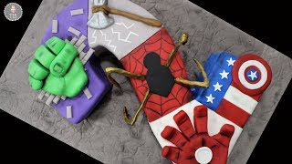 Avengers Infinity Wars Superhero Number Cake Tutorial!   Collab with Storytale Cakes