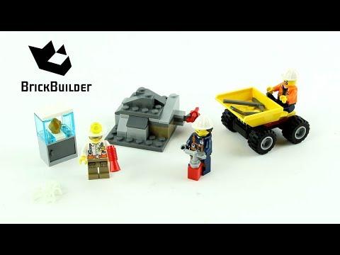 Vidéo LEGO City 60184 : L'équipe minière