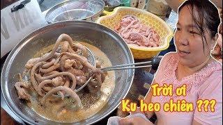 Lạ miệng Ku heo chiên, món ăn độc nhất vô nhị chỉ chị gái Sài Gòn này mới bán