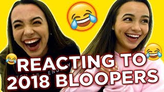 REACTING TO 2018 BLOOPERS - MERRELL TWINS LIVE