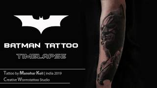 Making Of Batman Tattoo By Manohar Koli