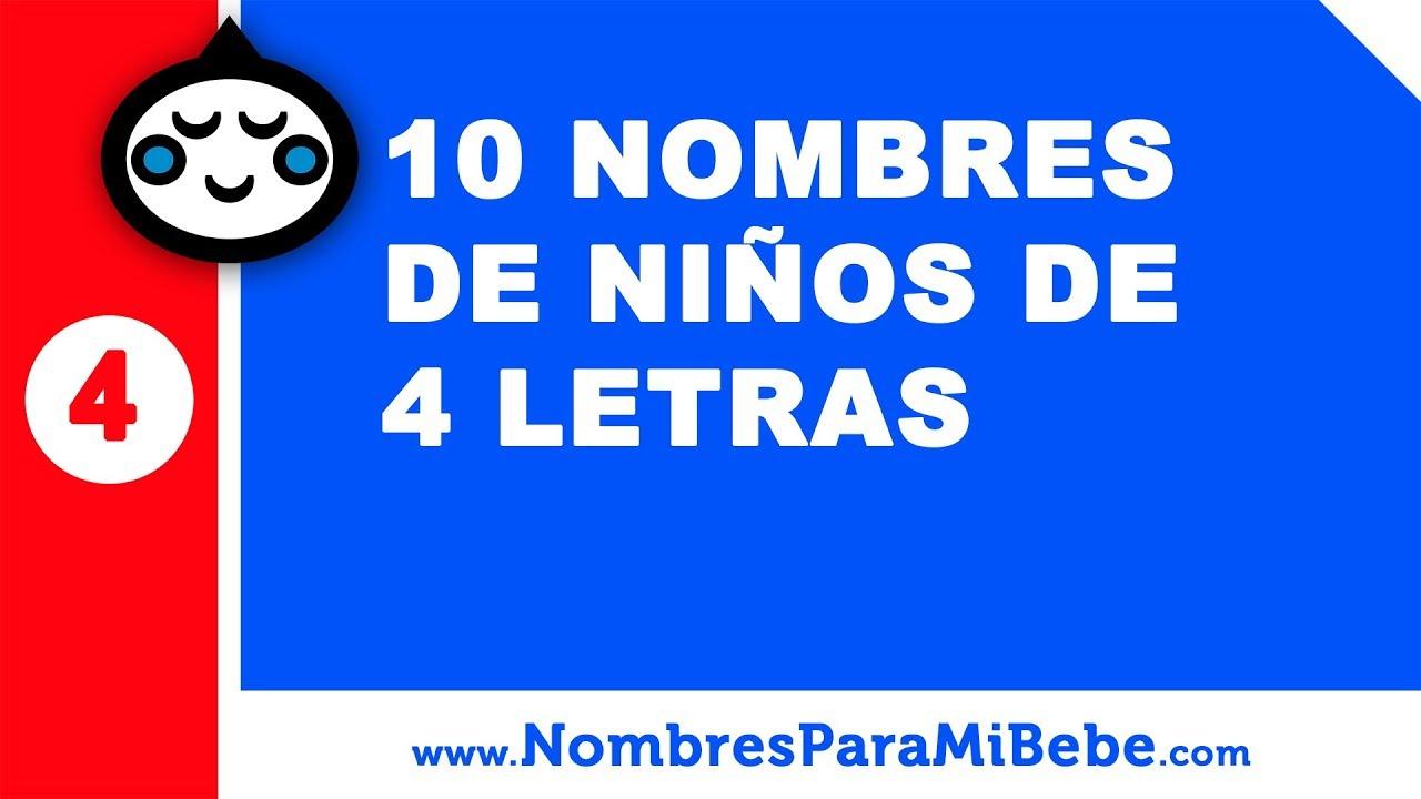 10 nombres de niños de cuatro letras - nombres de bebé - www.nombresparamibebe.com