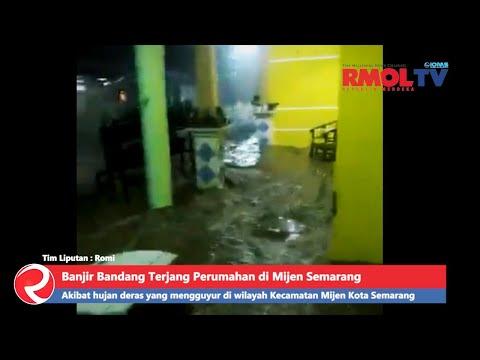 Banjir Bandang Terjang Perumahan di Mijen Semarang