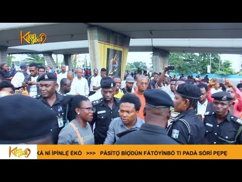 Sowore's arrest :Armed police officers, soldiers clash with RevolutionNow protesters