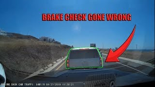 Semi Trucks and Cars Brake Checked - RAGE or INSURANCE SCAM attempt?     Fail Compilation 2019   #11