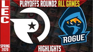 OG vs RGE Highlights ALL GAMES | LEC Spring 2020 Playoffs Round 2 | Origen vs Rogue
