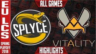 VIT vs SPY Highlights ALL GAMES   EU LCS 3rd Place Playoffs Spring 2018 Vitality vs Splyce Highlight