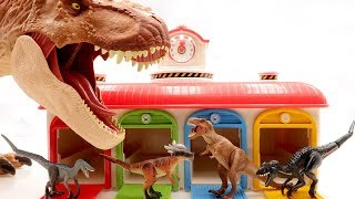 Jurassic World 2 Fallen Kingdom Toys~ T.Rex Battle Tayo Garage Fun Movie For Kids. Learn Dinosaur