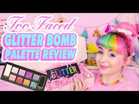♡ TOO FACED GLITTER BOMB REVIEW & SWATCHES ♡