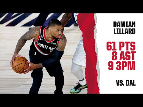 Damian Lillard (61 PTS, 8 AST) Highlights | Trail Blazers vs. Mavericks