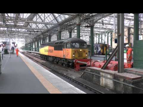 Colas Rail 56094 testing the buffers at Glasgow Central in A…