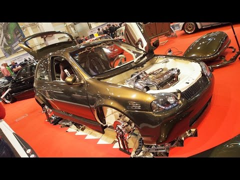 Opel Corsa B 2.0 150 PS Tuning at Essen Motorshow - Exterior Walkaround