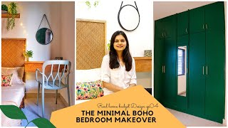 Minimal Boho Bedroom Makeover For A Doctor 👩‍⚕️ || Interior Maata || Real Home Budget Design EP04