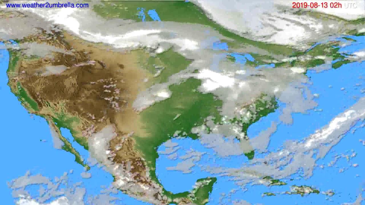 Cloud forecast USA & Canada // modelrun: 00h UTC 2019-08-11