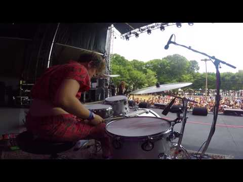 Lollapalooza performance with Boston based indie rock trio Lady Pills.