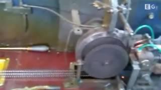 Станок для производства барабанной ленты гвоздей (под пистолет) - видео 1