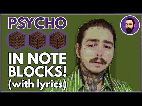 Post Malone - Psycho ft. Ty Dolla $ign ♪ Minecraft Note Block Song (Lyrics)