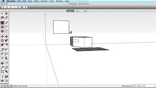 SketchUp Training Series: Rectangle tool
