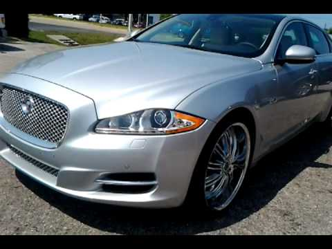 """2011 jaguar xjl super 8 with 22"""" custom wheels by underground autostyling"""