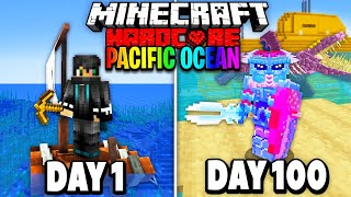 I Survived 100 Days in the Pacific Ocean on Minecraft.. Here's What Happened..