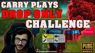 CARRYMINATI PLAYS DROP ONLY WEAPON CHALLENGE | CARRYISLIVE PUBG MOBILE HIGHLIGHTS