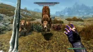 PS4 Elder Scrolls V Skyrim - Anti Gravity Mod Gameplay