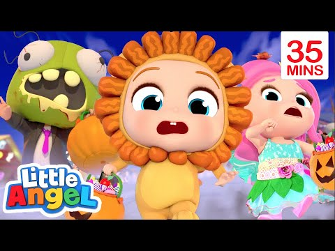 Monsters Everywhere | Halloween Song + More | Little Angel Kids Songs & Nursery Rhymes