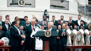 WATCH: The New England Patriots Visit the White House with Donald Trump