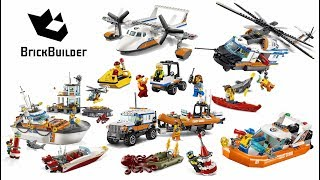 Lego City 2017 - All Coast Guard Compilation - Lego Speed Build