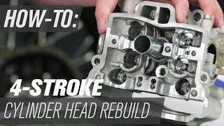 4-Stroke Motorcycle Cylinder Head Rebuild