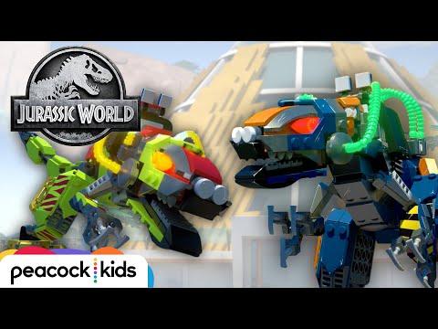 Robot Dinosaur Fight! | LEGO JURASSIC WORLD: LEGEND OF ISLA NUBLAR