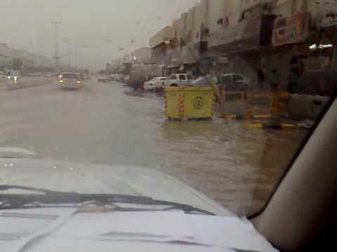 امطار مدينة الرياض حي الخليج