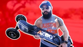 INSANE OFF-ROAD ELECTRIC SKATEBOARD (AZBO REVIEW)