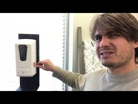 NEW Rental Item Review | Auto Hand Sanitizer Stations