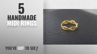 Top 10 Handmade Midi Rings [2018]: Handmade DNA Ring, Science Jewelry, Fashion Ring, GİFT