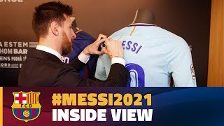 [BEHIND THE SCENES] Leo Messi signs new contract