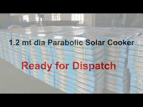Domestic Parabolic Solar Cookers 1.2 Mt Dia